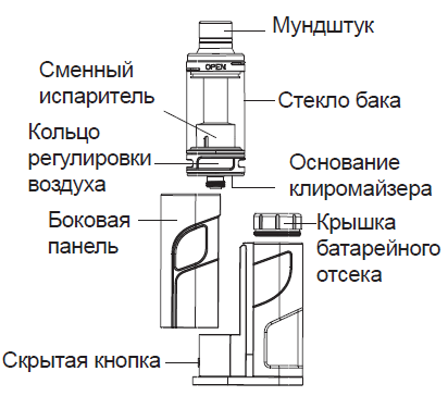 Инструкция для бокс-мода Eleaf iKonn Total