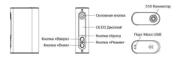 Инструкция для бокс-мода Eleaf iPower.Управление