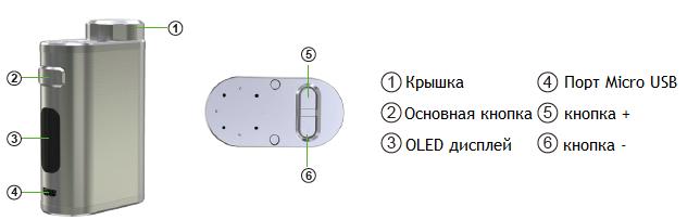 Инструкция для бокс-мода Eleaf iStick Pico 21700