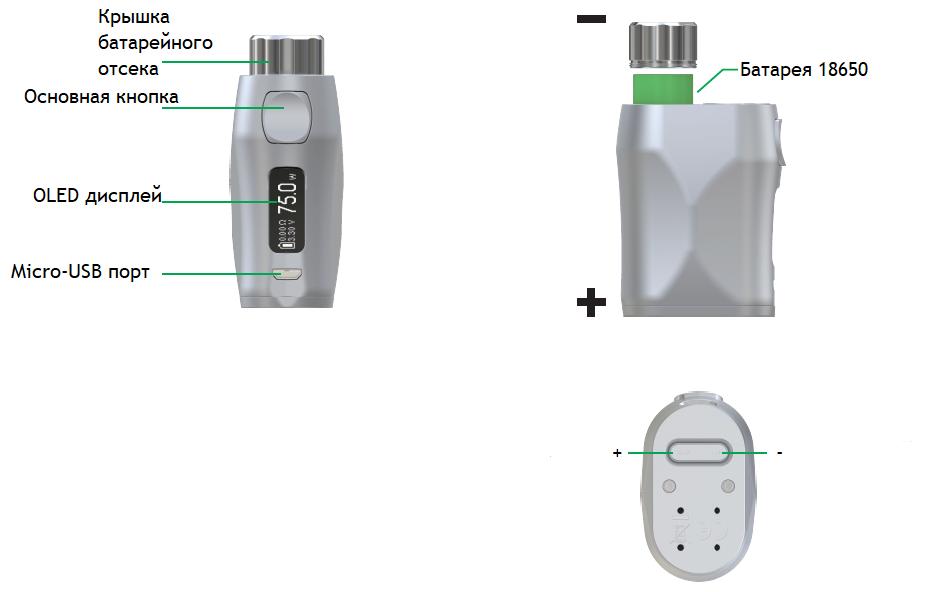 Инструкция для бокс-мода Eleaf iStick Pico X 75W с Melo 4