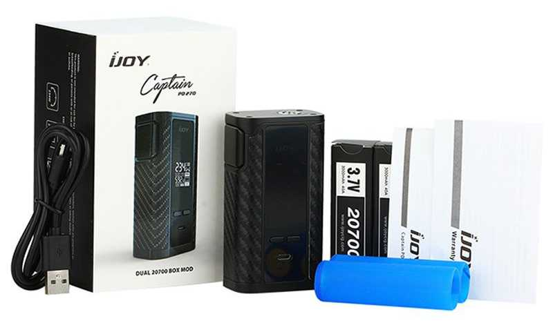 Инструкция для бокс-мода iJOY Captain PD270