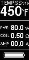 Инструкция для бокс-мода JoyeTech Cuboid Mini.3. Режим Temp-SS316