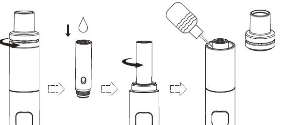 Инструкция для электронной сигареты Joyetech eGO AIO Eco.Установка испарителя