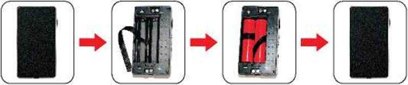 Инструкция для бокс-мода Sigelei 100W Plus.Установка батарей