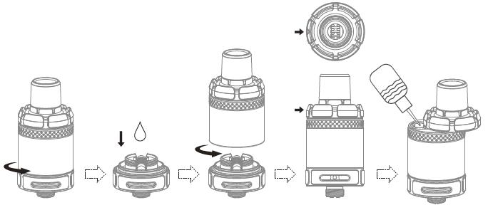 Инструкция для электронной сигареты Joyetech Exceed NC.Использование атомайзера NotchCore