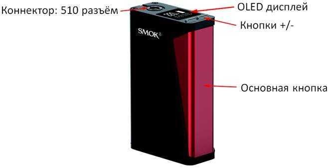 Инструкция для бокс-мода Smok H-Priv.Схема