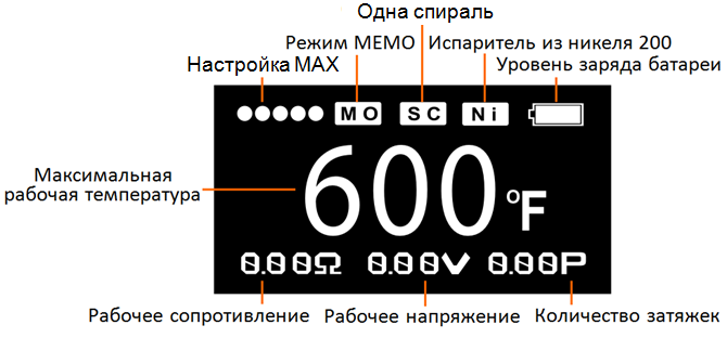 Инструкция для бокс-мода Smok Koopor Primus 300W.Режим ТС