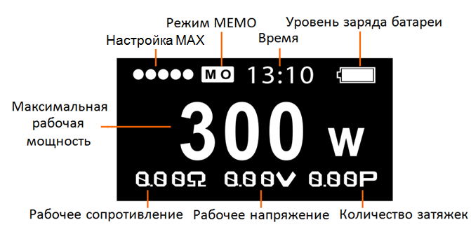 Инструкция для бокс-мода Smok Koopor Primus 300W.Режим VW
