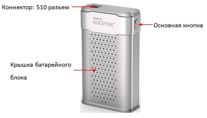 Инструкция для бокс-мода Smok Koopor Primus 300W.Схема