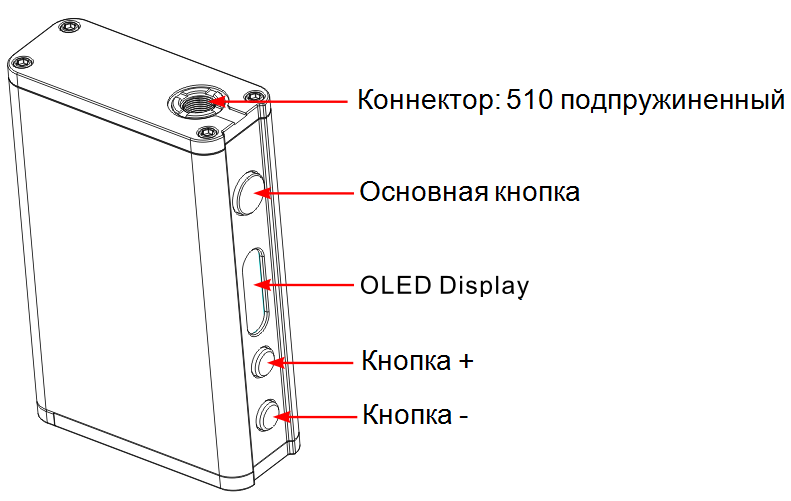Инструкция для бокс-мода Smok R200.Схема