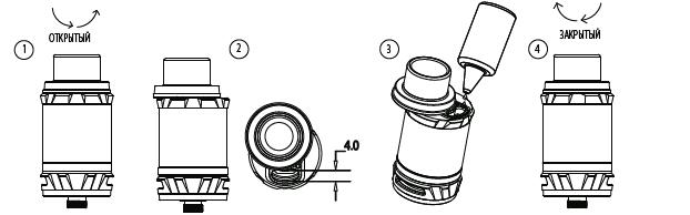 Инструкция для бокс-мода Vaporesso Switcher.Заправка жидкостью