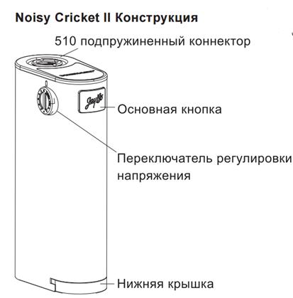 Инструкция для бокс-мода Wismec Noisy Cricket II-25