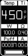 Инструкция для бокс-мода Wismec Presa TC100W.Переключение между режимами VW/Bypass/TC-Ni/TC-Ti/TC-SS/TCR
