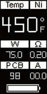 Инструкция для бокс-мода Wismec Reuleaux RX75.Отображение текущей силы тока