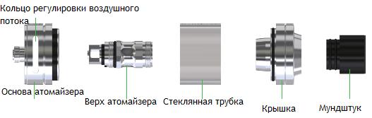Инструкция для электронной сигареты Eleaf iJust ECM.Заправка атомайзера
