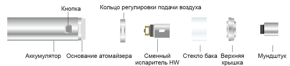 Инструкция для электронной сигареты Eleaf iJust NextGen