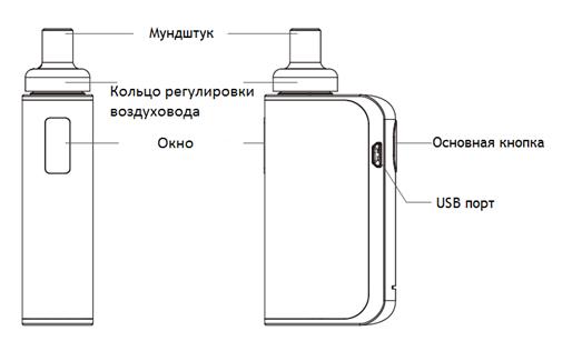 Инструкция для электронной сигареты Joyetech eGo AIO Box.Включение и выключение