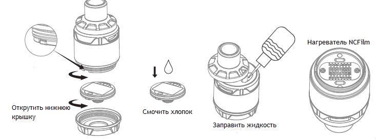 Инструкция для электронной сигареты Joyetech Ultex T80.Заправка