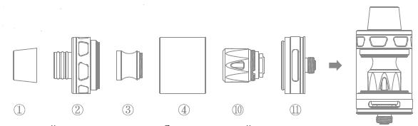 Инструкция для атомайзера Joyetech ProCore Remix.Использование в качестве сабомного атомайзера(Стандарт)