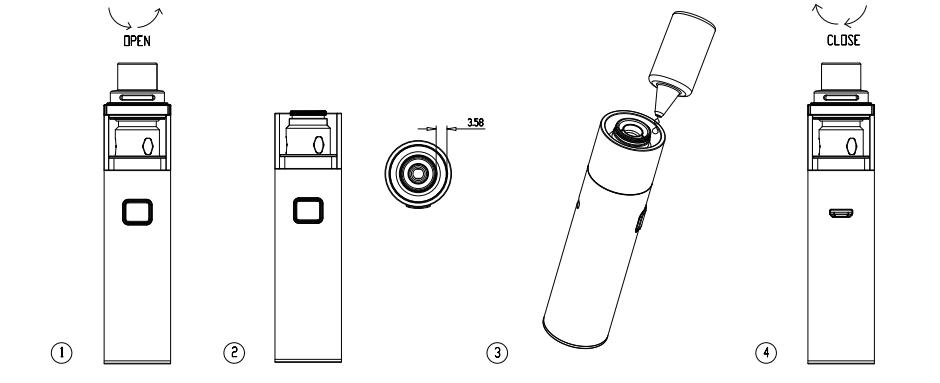 Инструкция для электронной сигареты Vaporesso Veco Solo и Veco Solo Plus.Заполнение жидкостью для электронных сигарет
