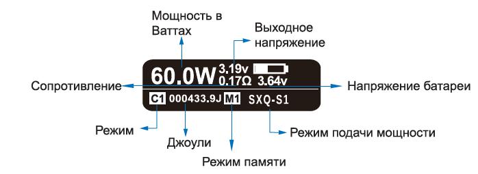 Инструкция для бокс-мода SX mini ML Class.Технические характеристики
