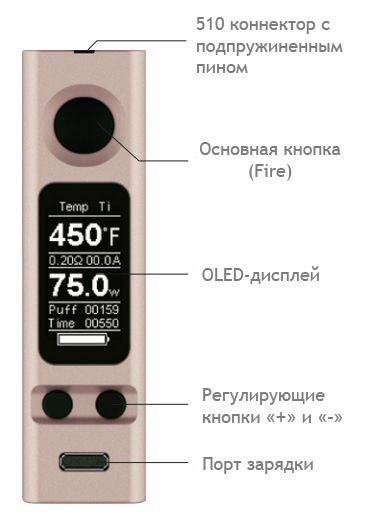Инструкция для бокс-мода Joyetech eVic VTC Mini 75W.О продукте
