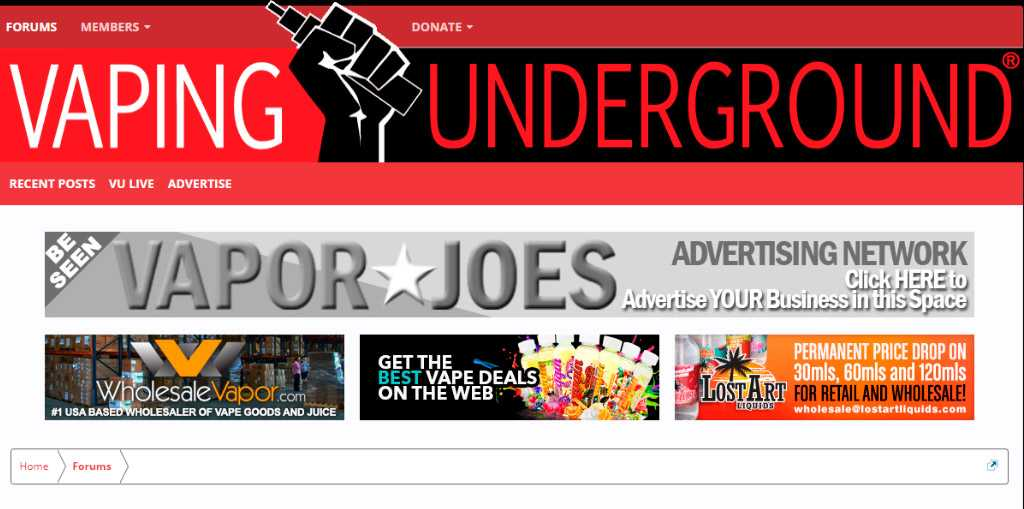 Обзор 4 самых популярных в мире форумов о вейпинге.Vaping Underground
