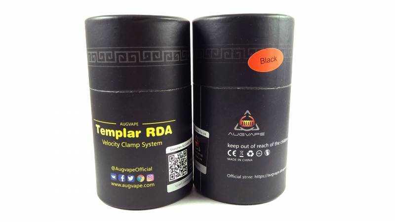 Обзор Augvape Templar RDA.Упаковка и комплектация