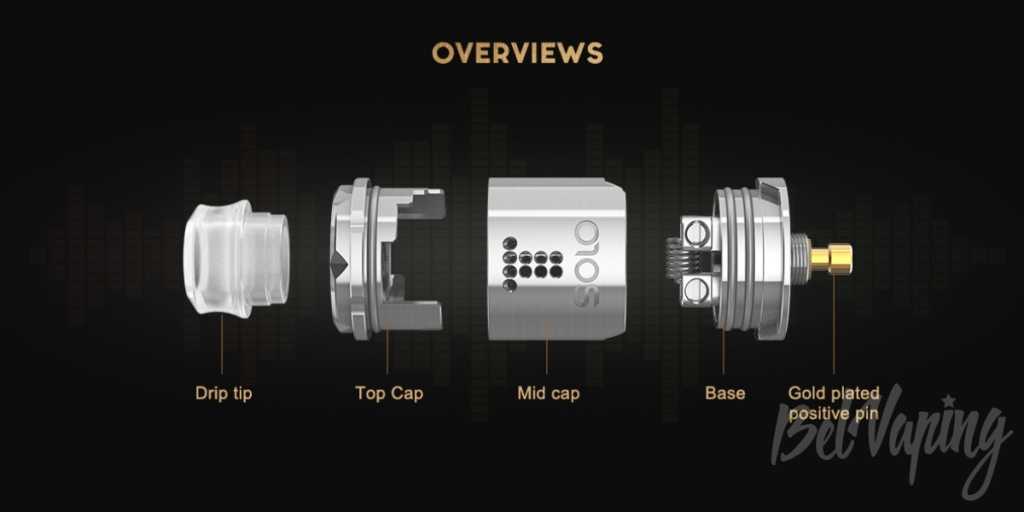 Обзор Digiflavor Drop Solo RDA. Первый взгляд.Внешний вид