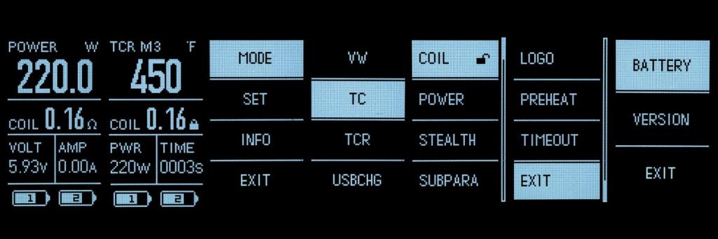 Обзор Eleaf Invoke Kit.Дисплей