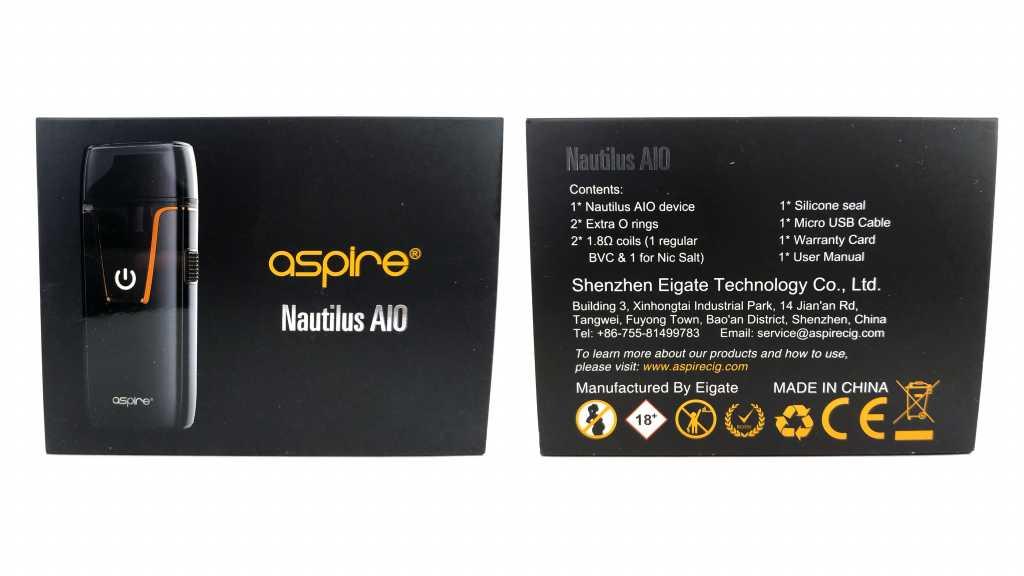 Упаковка Aspire Nautilus AIO