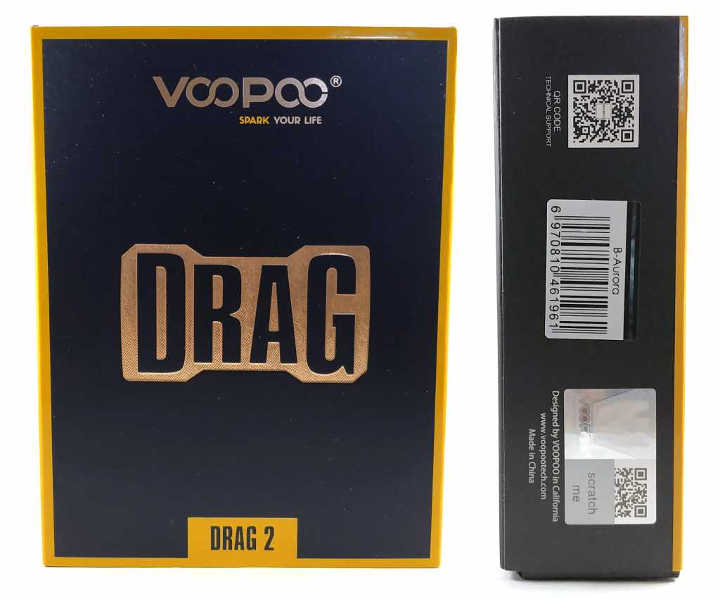 Упаковка Voopoo Drag 2