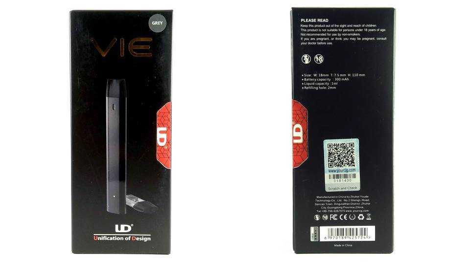 Обзор UD Vie Pod System.Упаковка и комплектация