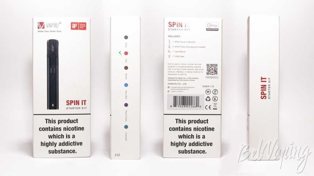 Обзор Vaptio SPIN IT.Упаковка SPIN IT