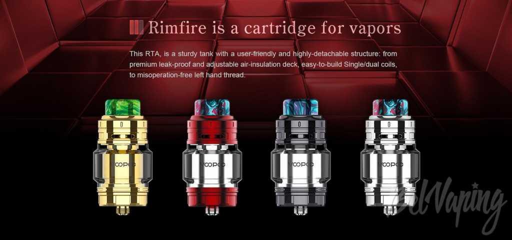 Обзор VooPoo Rimfire RTA. Первый взгляд.Внешний вид