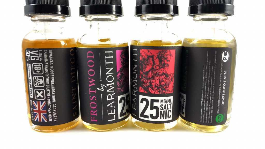 Обзор жидкости с солевым никотином Learmonth Salt Strong.Упаковка